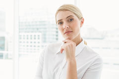 Beautiful young businesswoman in office Stock Image