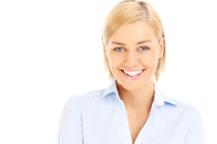 Beautiful young businesswoman royalty free stock images
