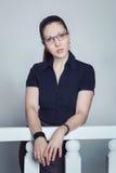 Beautiful young businesswoman Stock Photos