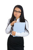 Beautiful young businesswoman with a pouty lips Royalty Free Stock Photos