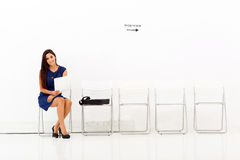 Businesswoman job interview stock images