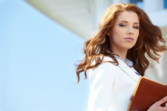 Beautiful young businesswoman Stock Photography