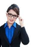 Beautiful young businesswoman smiling Royalty Free Stock Images