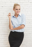 Beautiful young businesswoman smiling Royalty Free Stock Photography