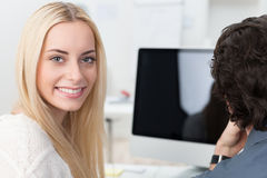 Beautiful young businesswoman Stock Image