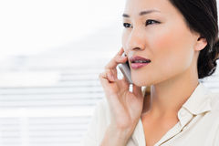 Beautiful young businesswoman using cellphone Stock Photo