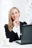 Beautiful young businesswoman at work Stock Photography