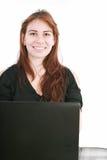 Beautiful young businesswomen smiling Stock Photo