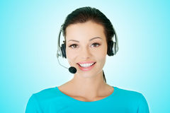 Beautiful young call-center assistant Stock Image