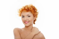 Beautiful young caucasian woman. Beautiful young woman , concept of spa, beauty, wellness salon and bath Stock Images
