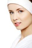 Beautiful young caucasian woman Stock Photos