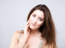 Beautiful young caucasian woman Stock Photos