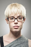 Beautiful Young Caucasian Woman With Glasses Portrait. Royalty Free Stock Photos