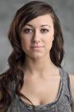 Beautiful Young Caucasian Woman Portrait Stock Photo