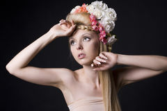 Beautiful young charming girl Royalty Free Stock Photo