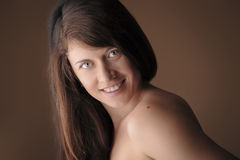 Beautiful young charming girl Royalty Free Stock Photos