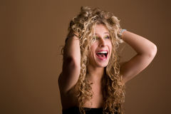 Beautiful young charming girl Stock Images
