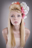 Beautiful young charming girl Royalty Free Stock Photography