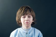 Beautiful young child crying Royalty Free Stock Photo