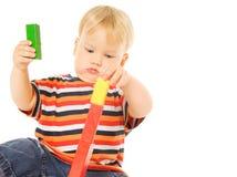 Beautiful young child playing Stock Photo
