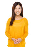 Beautiful young chinese model posing with confidence Royalty Free Stock Photography