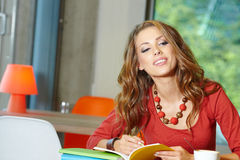 Beautiful young college student Stock Photo