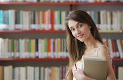 A beautiful young college student. Royalty Free Stock Images