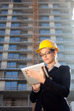 Beautiful young construction engineer/architect Royalty Free Stock Images