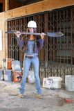 Beautiful Young Construction Worker (2) Royalty Free Stock Photography