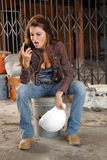 Beautiful Young Construction Worker (5) Stock Images
