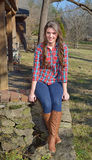 Beautiful young country girl on farm outdoors Royalty Free Stock Photos