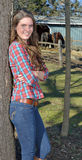 Beautiful young country girl on farm outdoors Stock Image