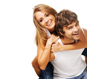 Beautiful young couple Stock Image