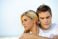 Beautiful young couple stock images