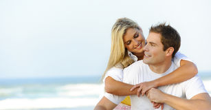 Beautiful young couple royalty free stock image