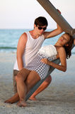 Beautiful young couple on the beach Stock Photo