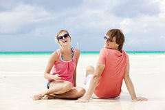 Beautiful young couple at beach Stock Image