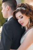 Beautiful young couple, the bride and groom Royalty Free Stock Photo