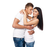 Beautiful young couple in casual clothing Stock Photography