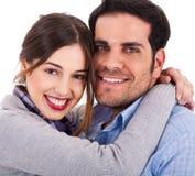 Beautiful young couple closeup shot Stock Photography