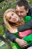 Beautiful young couple embracing Stock Image