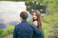 Beautiful young couple enjoing good weather in summer Stock Photos