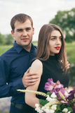 Beautiful young couple enjoing good weather in summer Royalty Free Stock Photos
