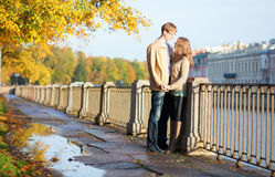 Beautiful young couple having a date Stock Images