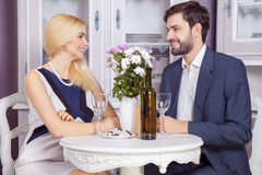Beautiful Young couple having fun together in valentine days. Stock Images