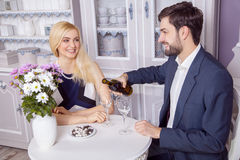 Beautiful Young couple having fun together in valentine days. Stock Photos