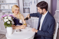 Beautiful Young couple having fun together in valentine days. Royalty Free Stock Photography