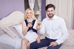 Beautiful Young couple having fun together in valentine days. Stock Photography