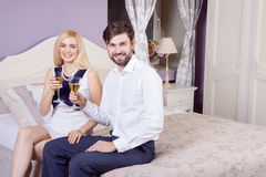 Beautiful Young couple having fun together in valentine days. Royalty Free Stock Image