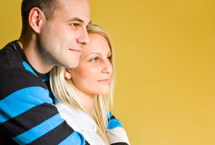 Beautiful young couple hugging. Stock Photos